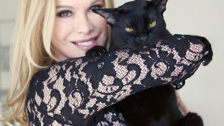 Cosmetic surgery expert Cindy Jackson with her cat Pip
