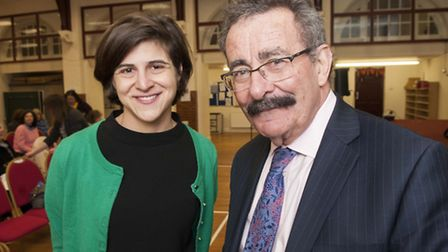 Lord Robert Winston and Sarah Sackman. Picture: Nigel Sutton.