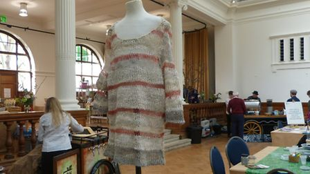 The final garment on show at the Royal Horticultual Society's Lindley Hall