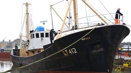 The Mincarlo Trawler, the last surviving fishing vessel built in Lowestoft. Photo: Mick Howes