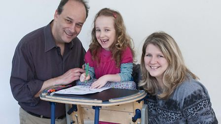 Gill Wray, Amir Landeck, and their daughter Orly, who are trying to raise �40,000 for an operation f