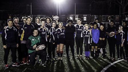 International rugby coaches from England and Ireland helped to train 30 aspiring young players at Pe