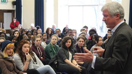 BBC director general Tony Hall declared his support for votes at 16 at a talk at La Sainte Union sch