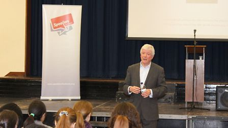 Lord Hall visited La Sainte Union as part of the Speakers for Schools initiative