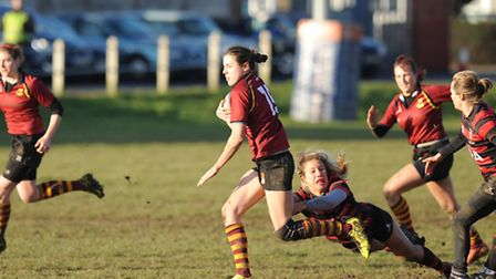 Hampstead's Lilly Hunt scored four tries. Pic: Paolo Minoli