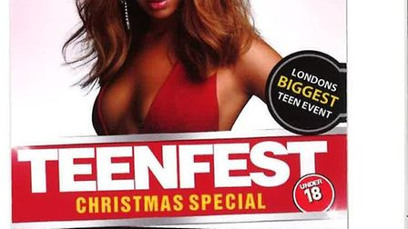 The Teen Fest leaflet given to Camden school pupils.