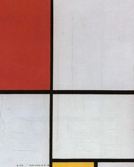 Composition with red, yellow and blue, Piet Mondrian, 1928