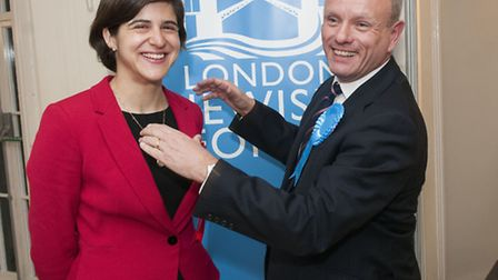 Mike Freer and Sarah Sackman at Ivy House. Picture: Nigel Sutton.