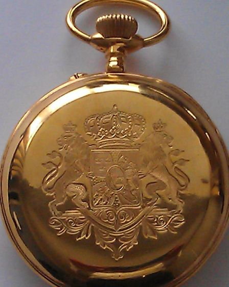 One of the stolen watches, a unique item dating back to 1910 worth �12,500.