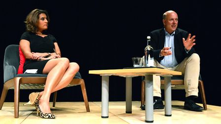 Chris Grayling MP in conversation at JW3 last night. Picture: Polly Hancock