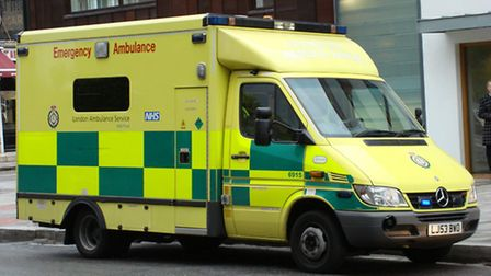 An elderly woman was rushed to hospital.