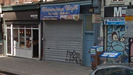 Police raided the Yasmina cafe in Kentish Town Road. Picture: Google Streetview