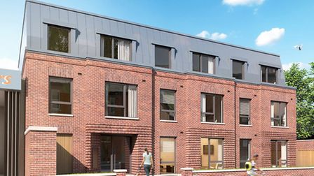 CGI of Pocket Living development, Oak Grove, Camden, which is under construction. Flats will be on s