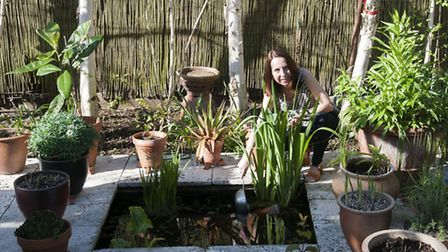 Jill Pack in her Muswell Hill garden. Picture: Nigel Sutton