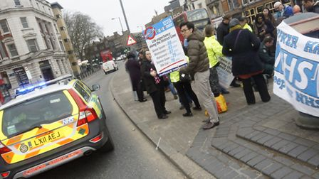 Save Our Surgeries protest this year, as GP surgeries struggle to stay afloat.