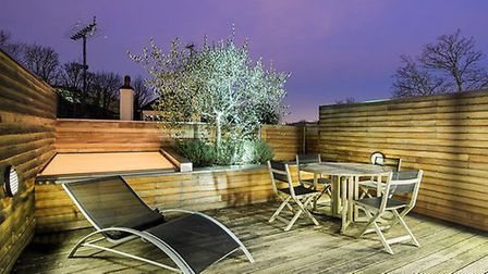Secluded roof terrace