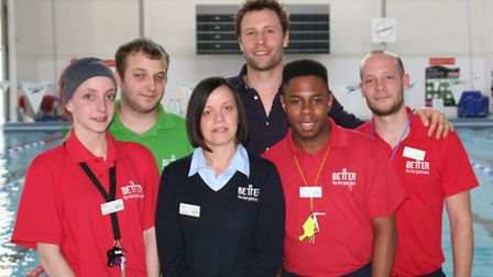 Camden teacher and resident Ed Bray (centre, rear) with 'hero' lifeguards