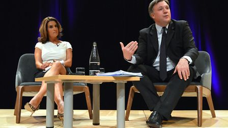 Ed Balls and Samantha Simmonds. Picture: Polly Hancock.