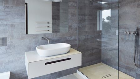 Bathroom in a completed Facit Home