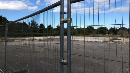 The site on which the new Worlingham Community Facility will be built. Photo: James Carr.