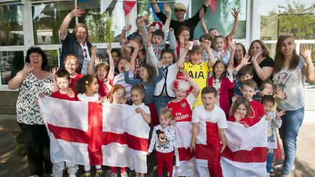 Gospel Oak School celebrates St George's Day. Picture: Nigel Sutton