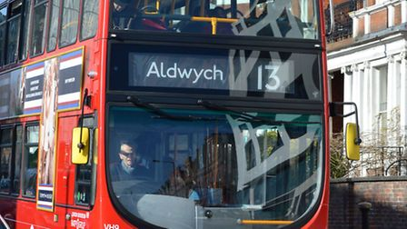 The number 13 bus. Picture: Polly Hancock.
