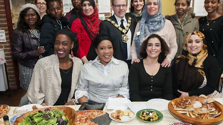 Mayor of Camden at Celebration lunch for students of Children and Young Peoples Workforce course at