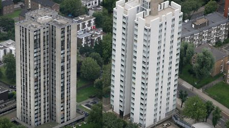 The Chalcot tower block that underwent repairs by Camden Council