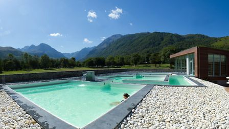 The outdoor Japanese baths