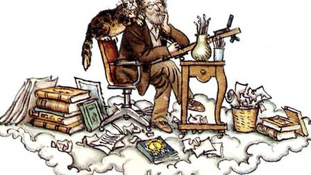 A self-portrait from Heaven on Earth, Fritz Wegner's ambitious illustrated summary of the collected