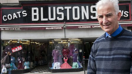 Blustons of Kentish Town is closing after 80 years Michael Albert pictured outside the shop