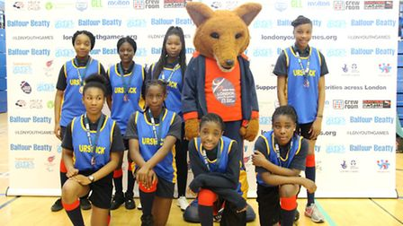 Hackney's bronze medal-winning sports hall athletics team at the London Youth Games