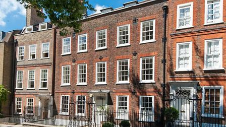 Built around 1728 by R Hughes, this five storey Grade II Listed Georgian house in Church Row, Hampst
