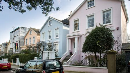 An elegant early Victorian, Grade II listed detached house in Provost Road, Primrose Hill, built cir