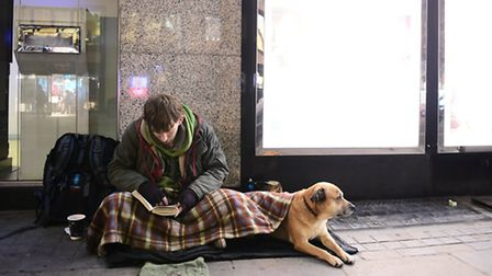 File photo dated 23/12/14 of a homeless man in London, as rising numbers of people are facing homele