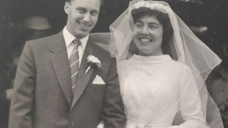 Richard and Cook on their wedding day in 1957. Picture: CONTRIBUTED