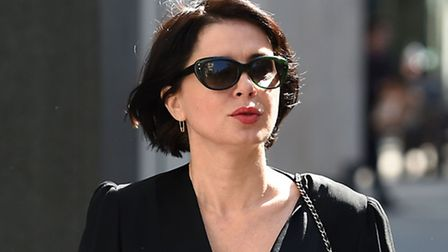 Sadie Frost arrives at the hearing in the Rolls Building. Photo: Andrew Matthews/PA Wire