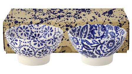 A set of two small fluted bowls, available from Emma Bridgewater. PA Photo/Handout.