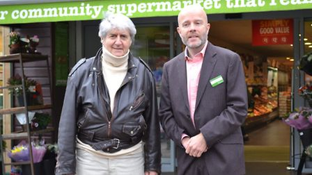 Tom Conti and Andrew Thornton, who runs the Budgens in Haverstock Hill and was vocally opposed to Te