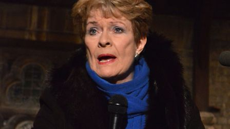 Dame Janet Suzman at the Stop Tesco meeting at St Stephen's, Pond Street.