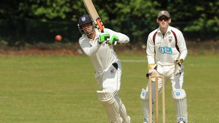 Hampstead's Liam Hughes hit a rapid half-century with the bat and then took 4-37 with the ball. Pic: