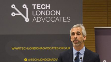 Russ Shaw speaking at Tech London Advocates conference