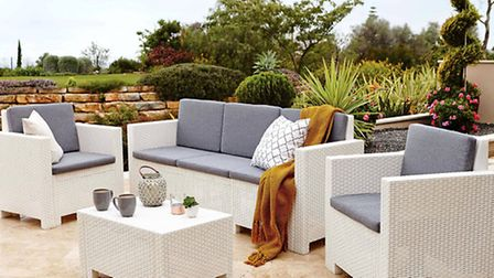 Milan five seater conversation set, available from Dunelm