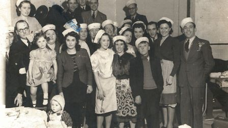 Irene hosting a party for children during the war