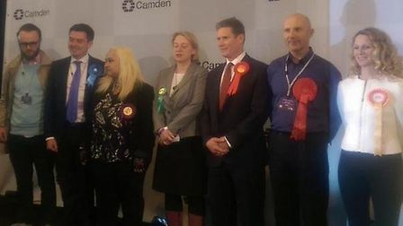 Candidates for the Holborn and St Pancras constituency hear the results