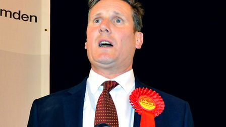Labour's Sir Keir Starmer gives his victory speech. Picture: Polly Hancock
