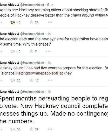 Diane Abbott hits out at Hackney Council for letting down voters