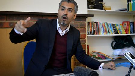 Maajid Nawaz at The Winch. Picture: Polly Hancock.