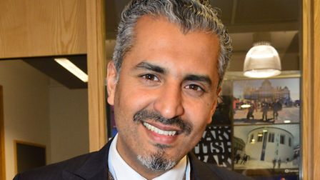 Maajid Nawaz at the election count. Picture: Polly Hancock