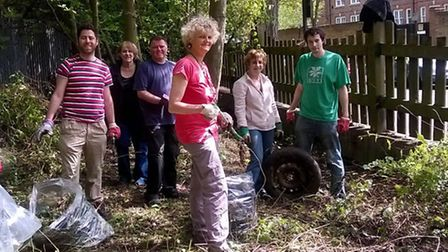 The Netherwood Street clean-up on Sunday